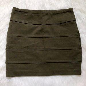 Olive Green Bodycon Skirt